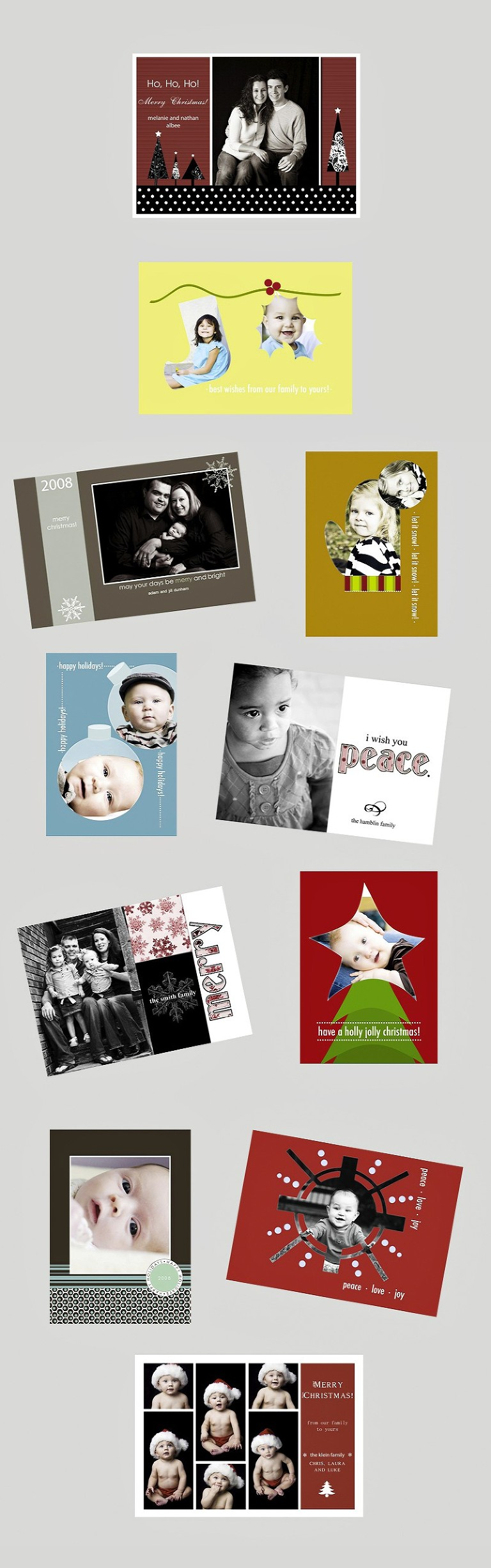 christmas card designs bright colors