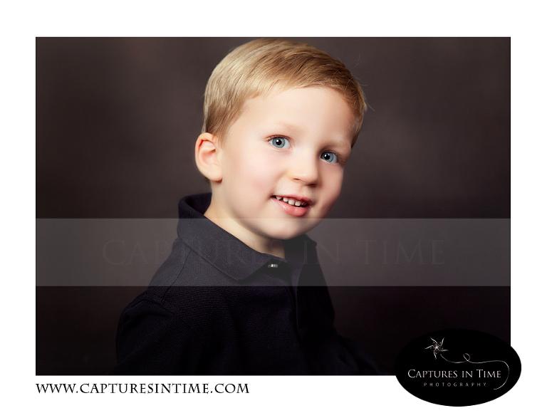 toddler boy in black shirt