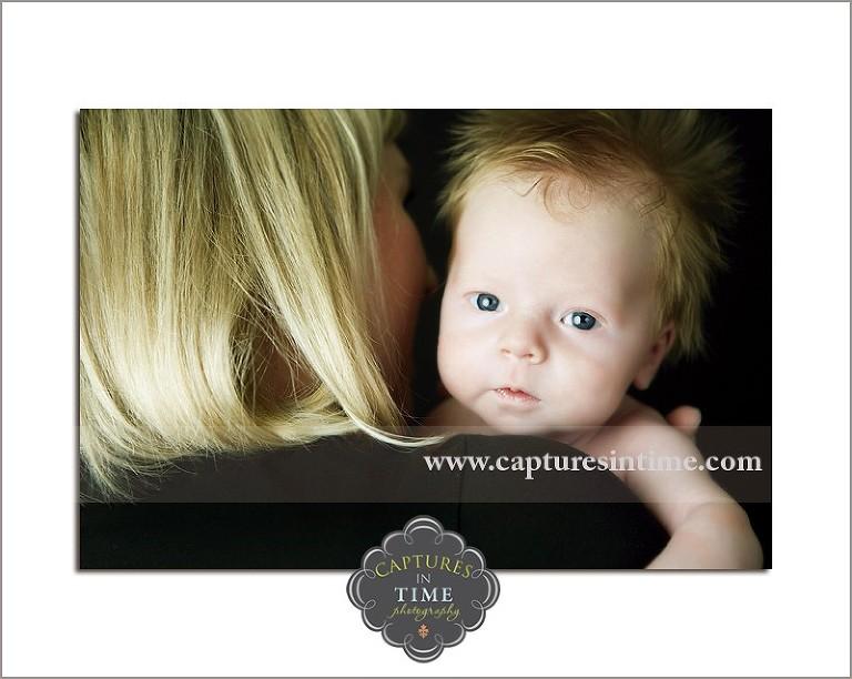 Kansas City Newborn Photographer baby with red hair