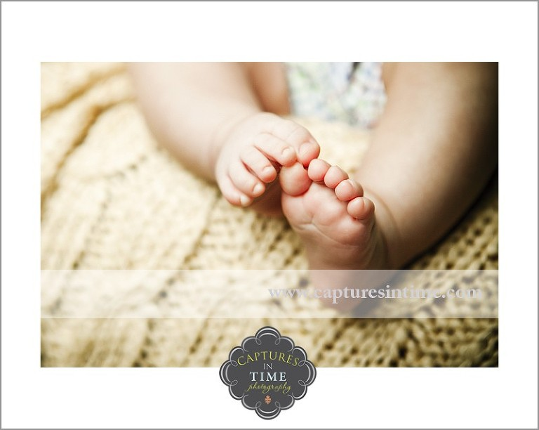 A Twin 3 Month Session with Mom and Dad baby toes