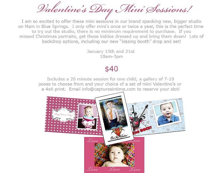 Valentine Mini Sessions Kansas City