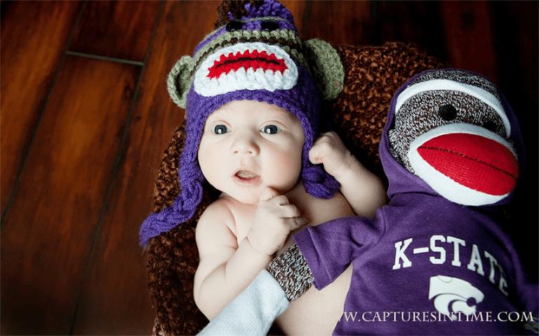 newborn in K State hat Kansas City