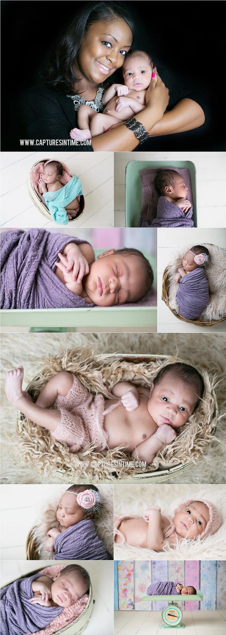 Mint Green & Purple Newborn Session