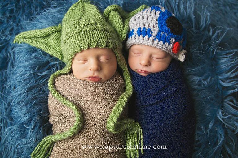 Newborn Yoda and R2D2