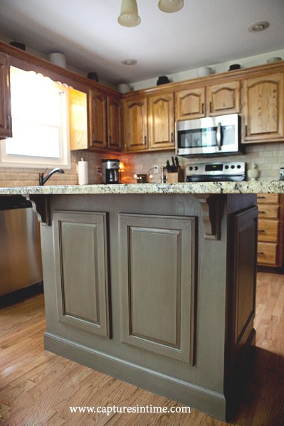 Kitchen Island Makeover kitchen island revamped with cabinet doors