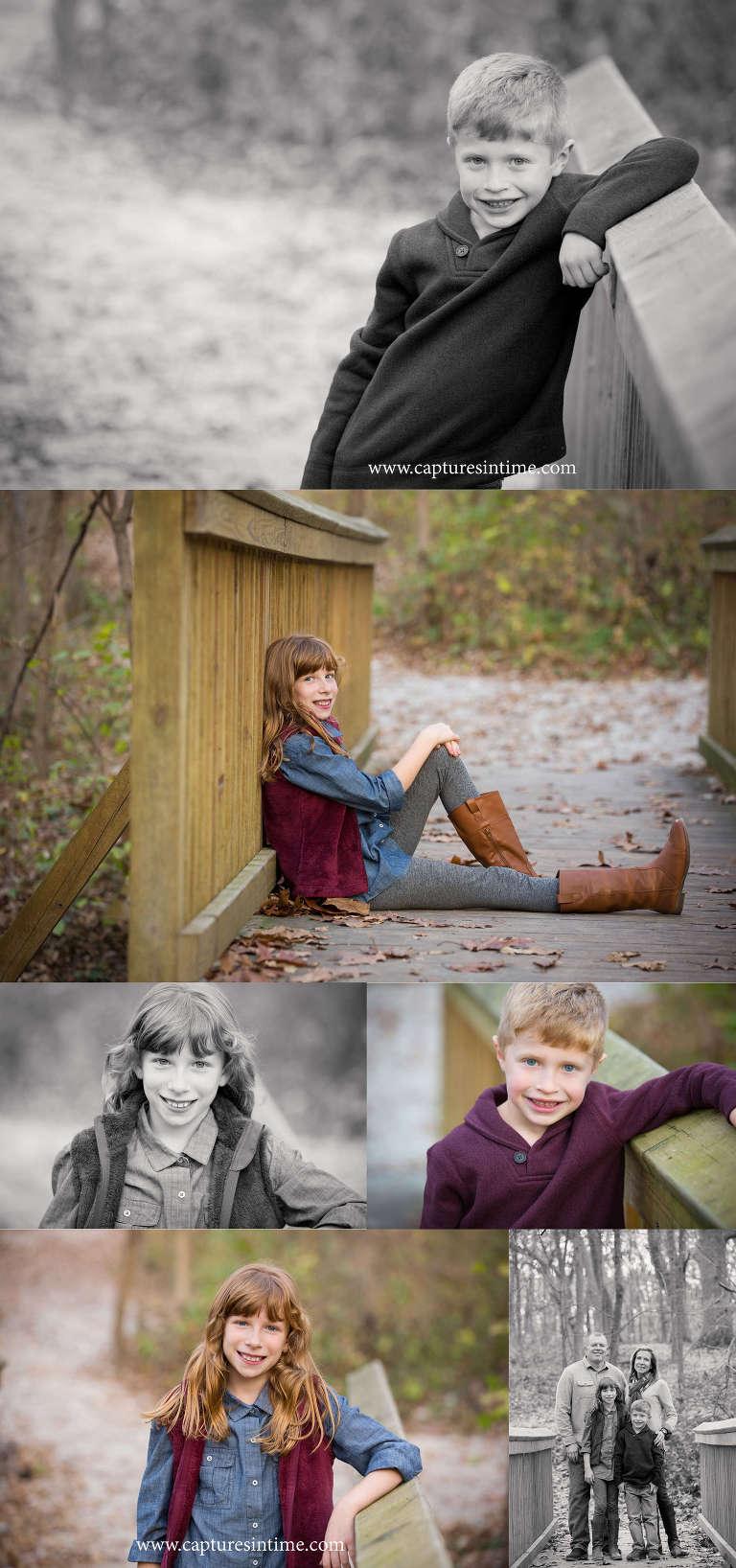 family photography kansas city brother and sister readhead burr oaks on bridge