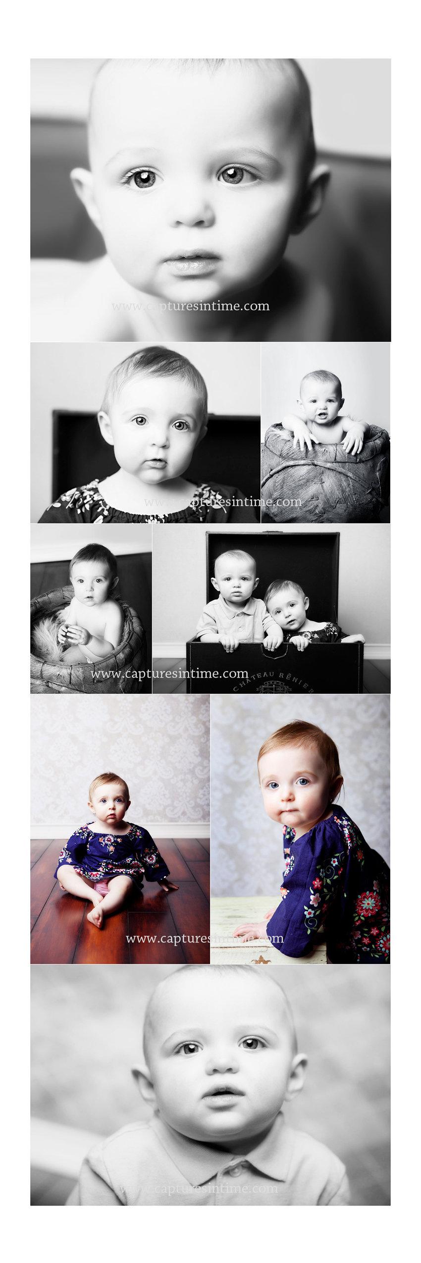 Kansas City Baby Photographer a pair of babies