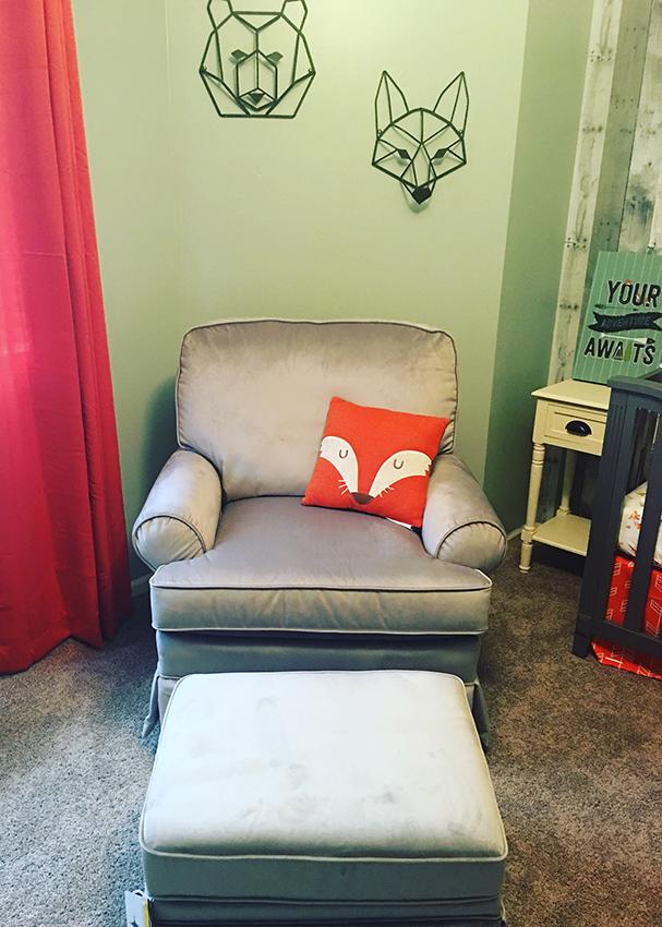 nursery chair foxes