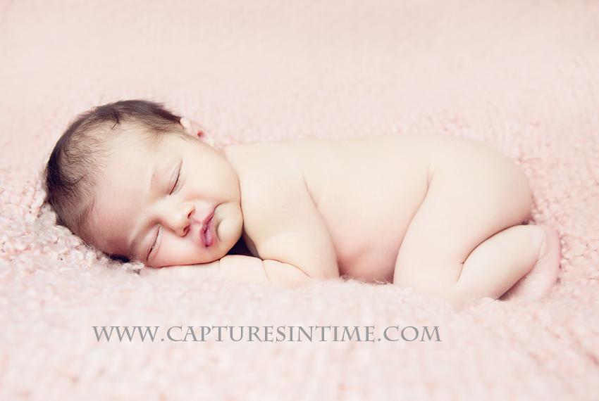 Kansas City Newborn Girl Photos A Little Pink