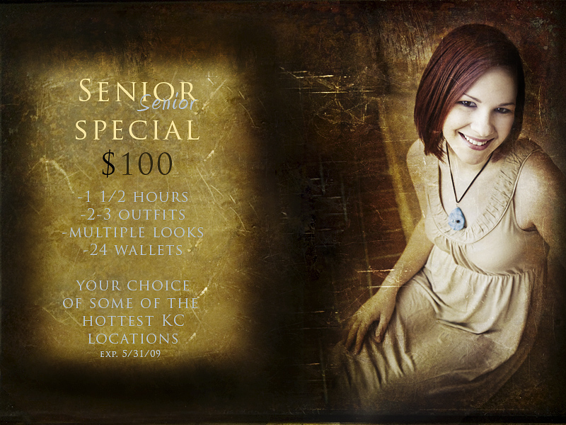 Senior Special Portrait Pricing - Captures in Time Photography