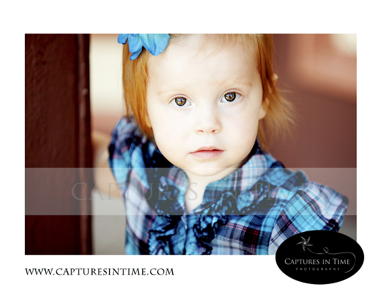 red hair blue eyes plaid shirt toddler girl