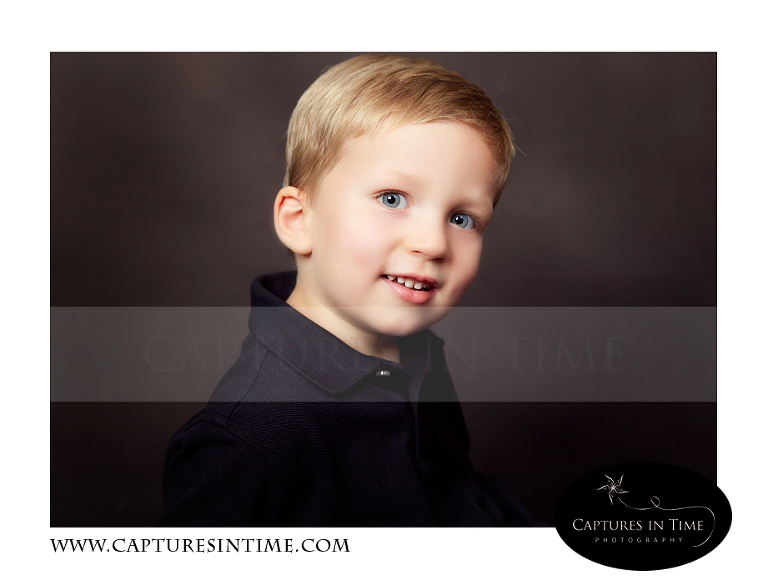 toddler boy in black shirt