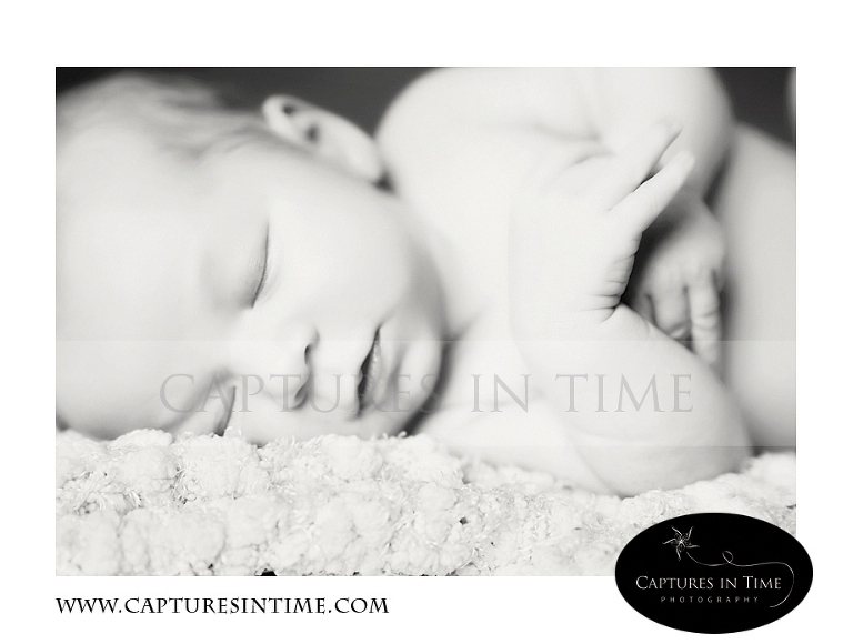 Kansas City Newborn Photography black and white baby on a soft blanket