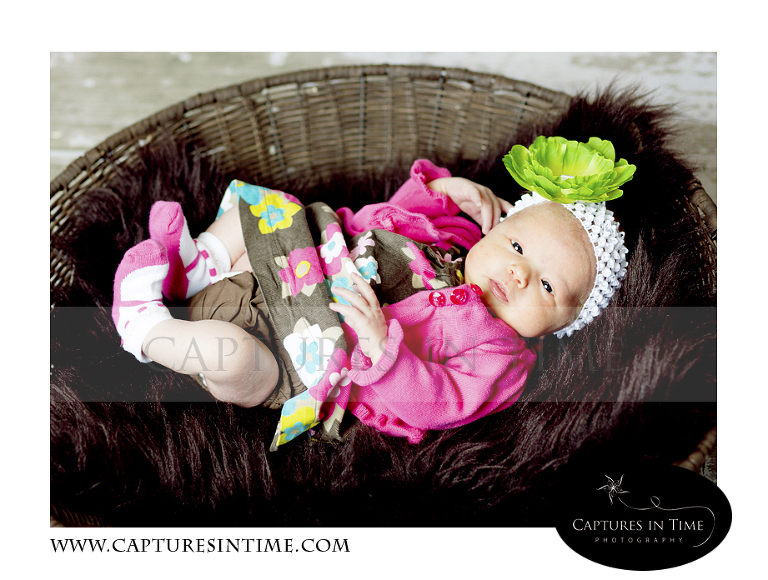 baby in bright outfit