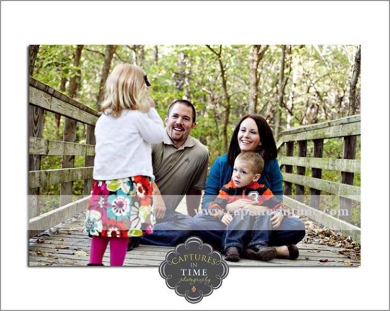girl with family on bridge Burr Oaks