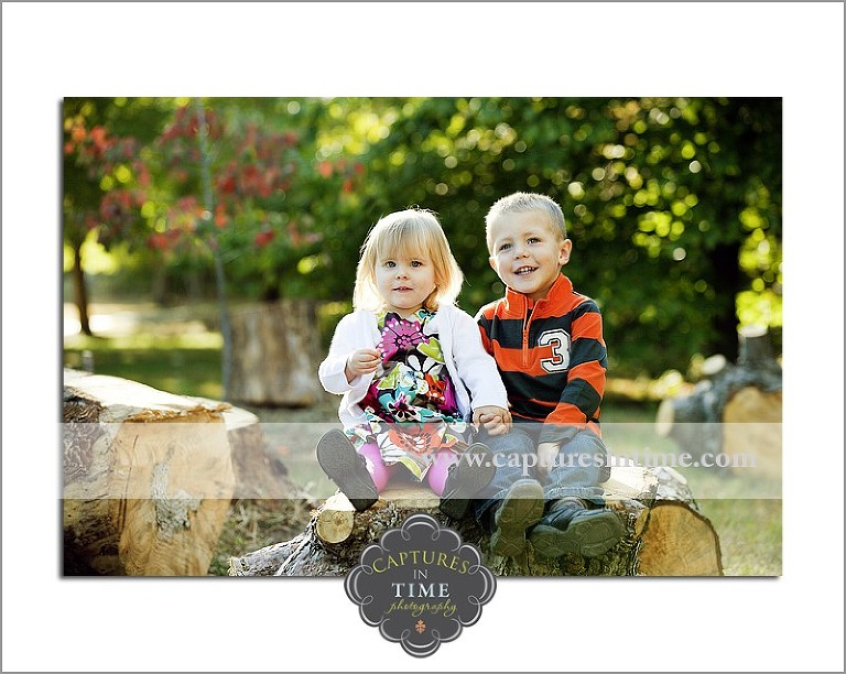 girl with brother on rock Burr Oaks