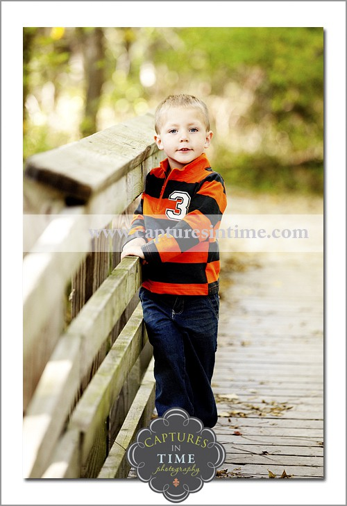 boy on bridge Burr Oaks