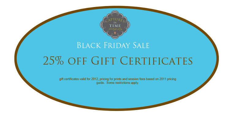 Kansas City Newborn Photographer Black Friday Gift Certificate Sale