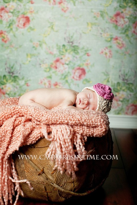 newborn NICU girl pretty floral Kansas City