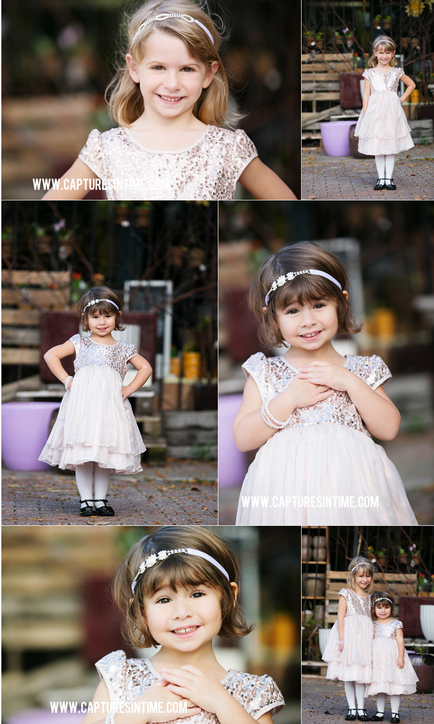 photo session collage of sisters in the Kansas City Rivermarket