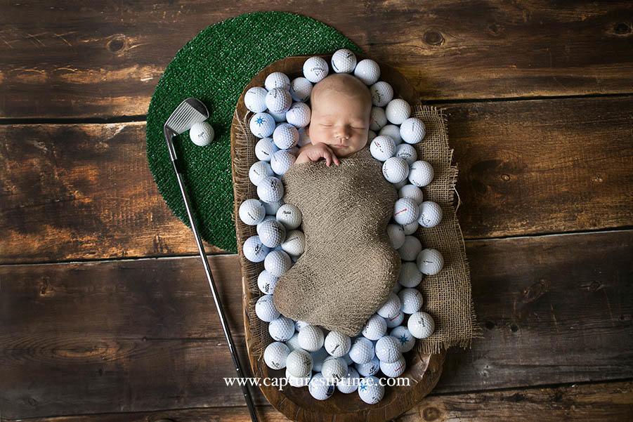 Newborn Golf Themed Photo Session