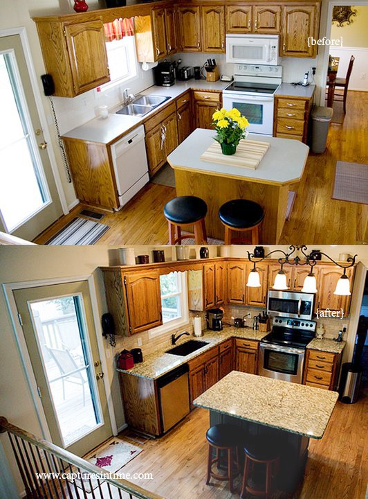 Kitchen Island Makeover easy kitchen island makeover before and after