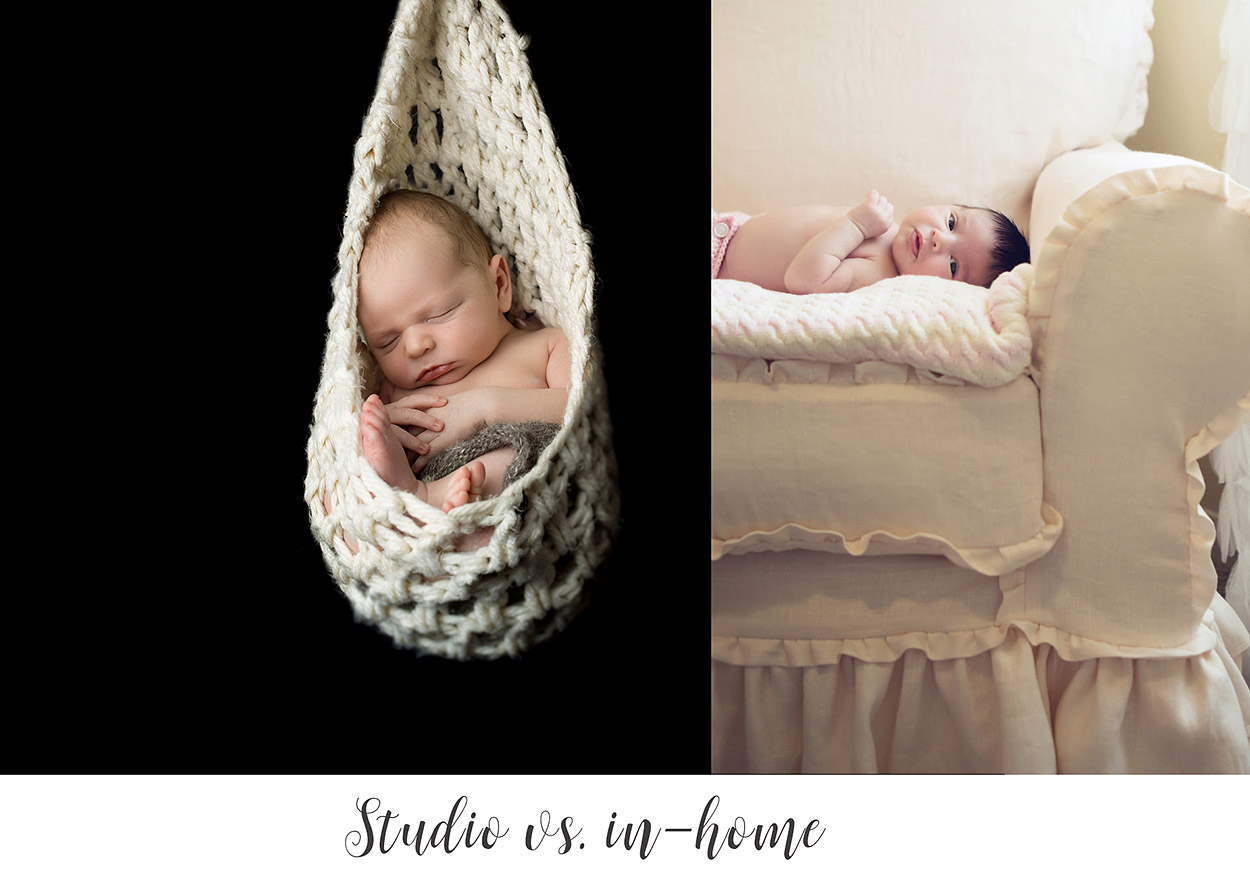 8 Reasons to have a Studio Vs In-Home Newborn Photography Session